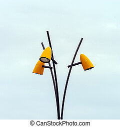 Modern street lamp in Saverne, France