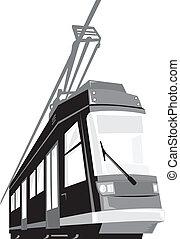 Modern Streetcar Tram Train - Illustration of a modern...