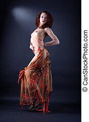 modern strip dancer in action