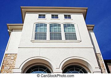 Modern Stucco House