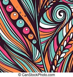 Modern style abstraction pattern. Vector illustration.