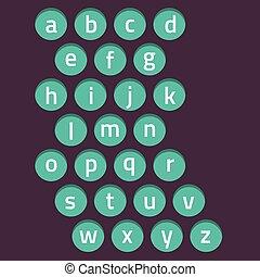 Modern Style Alphabets Set Vector.