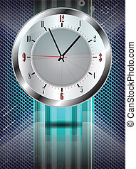 background with classic clock