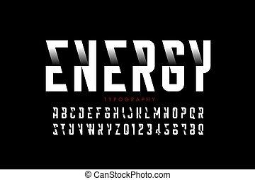 Modern style font