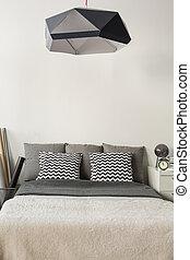 Modern style lampshade - Image of modern style black...