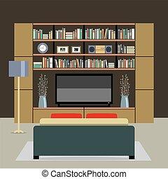 Modern Style Living Room Vector illustration