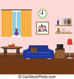 Modern stylish interior room