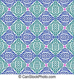 Modern stylization of Indian patterns - Floral seamless...