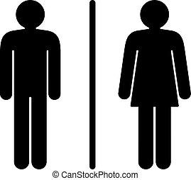 bathroom sign vector. Restroom Sign - Modern Stylized Vector Illustration Of A.. Bathroom