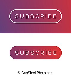 Modern subscribe button set