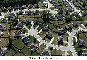 Modern Suburbs Aerial