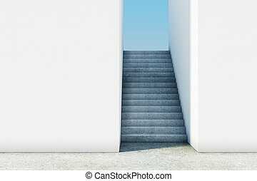 Modern success stairs