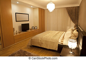 Modern suite - Modernd bedroom. Luxury suit bedroom with...