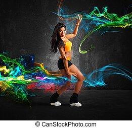 modern, táncos