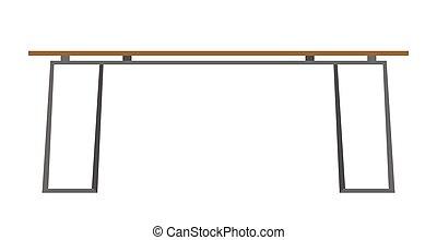 Modern table vector cartoon illustration. - Modern table...