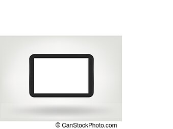 modern tablet computer with blank screen isolated illustration