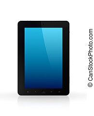 Modern tablet pc.