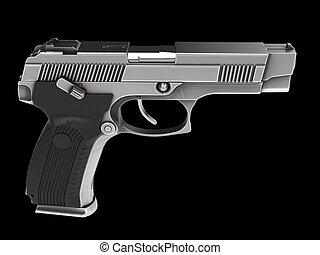 Modern tactical handgun - hardened steel