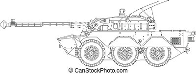 Modern tank - High detailed vector illustration of a modern...