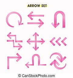 modern tape style arrows set