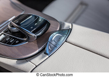 Modern tech control panel of a car