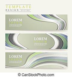 modern technological design for banners set