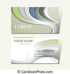 modern technological design for business card