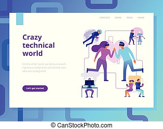 Modern Technologies Page Design