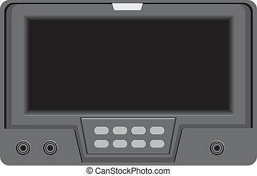 Modern technologies. Screen with control buttons. Vector...