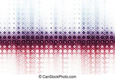Modern Technology Background in a Color Burst