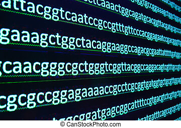 Modern technology: DNA sequencing. The letter symbols...