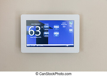 Modern technology heating and cooling digital touch screen thermostat for home