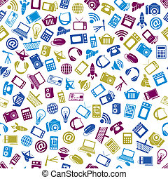 modern technology seamless pattern