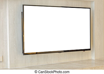 Modern television in living room .