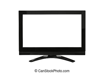 Modern Television Isolated on White