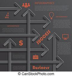 Modern template infographics design for business presentation