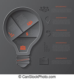 Modern template infographics design with lightbulb