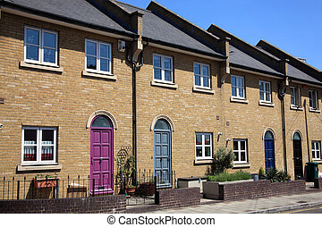 Modern Terraced Houses - Modern new terraced houses in...