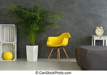 modern, tervezett, hálószoba