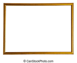 thin gold picture frame - Modern thin gold picture frame,...