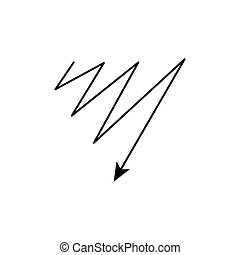 Modern thin line icon of flash. Premium quality outline symbol. Simple mono linear pictogram, drawing, art, sign. Stroke vector logo concept for web graphics.