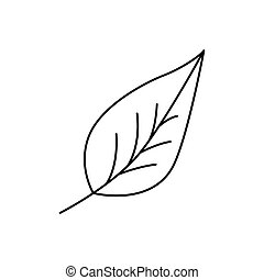 Modern thin line icon of leaf. Premium quality outline symbol. Simple mono linear pictogram, drawing, art, sign. Stroke vector logo concept for web graphics.