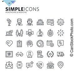 Modern thin line icons