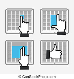 Modern tile interface with basic gestures to work with...