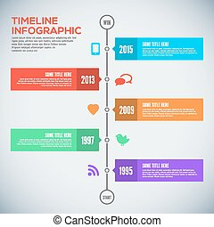 Modern timeline design template. Infographic. Vector design.