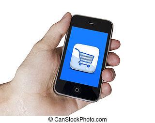 Modern touch blue screen phone E-Commerce