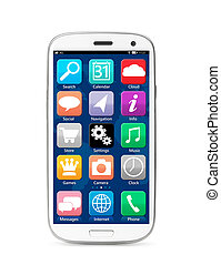 touch screen smartphone - modern touch screen smartphone...