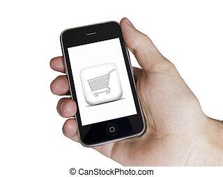 Modern touch white screen phone e-commerce