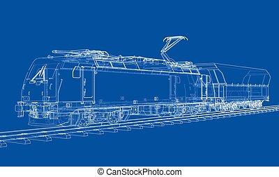 Modern train concept. Vector