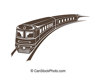 modern train simple vector illustration